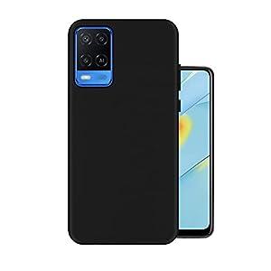 Hello Zone Exclusive Matte Finish Soft Back Case Cover for Oppo A54 – Black