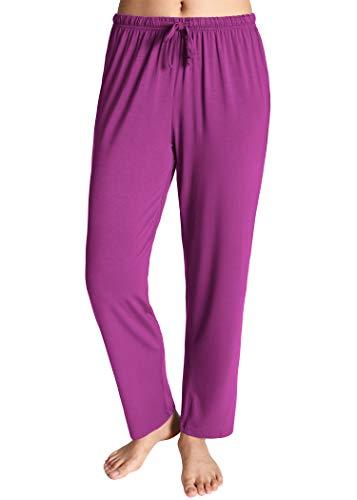 Latuza Women's Knit Loungewear Pajama Pants 2X Boysenberry ()