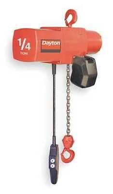 DAYTON 3YB99G Electric Chain Hoist, 500 lb, 15 ft.