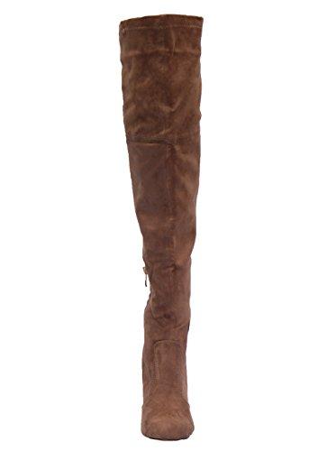 Cats Overknee-Stiefel BF-96452-6-KH 3-2554 Damen, Stiefel mit Kaltfutter, khaki