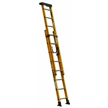 DeWalt DXL3020-16PT 16-Feet Fiberglass Extension ladder Type IA with 300-Pound Duty Rating, 16-Feet