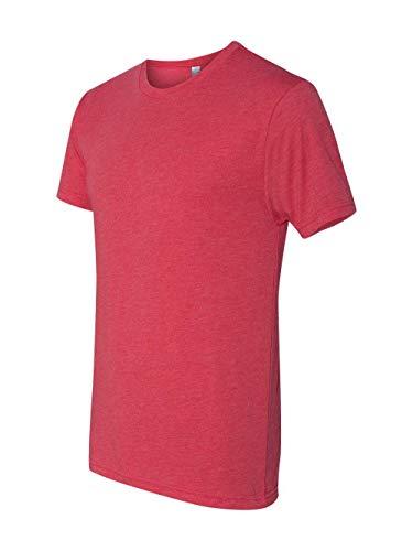 Next Level 6010 Men's Tri-Blend Crew Tee - X-Large - Vintage Red -