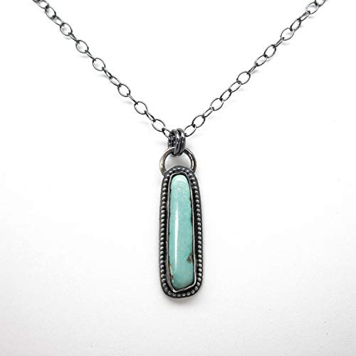 Morenci Turquoise Necklace~Sterling Silver 18