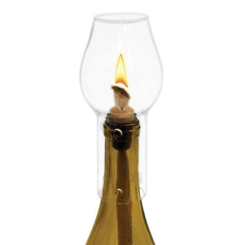 Boulevard Hurricane Glass Bottle Lamp by Twine – (Includes 1 wick, 1 hurricane bottle (Wine Bottle Hurricane)