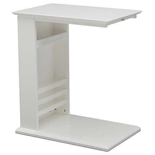 Delta Children Nolan End Table Side Table for Nursery, Bianca White