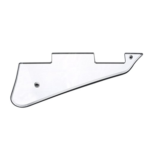 Musiclily Electric Guitar Pickguard for Gibson Les Paul Modern Style Guitar Parts, 1Ply Silver Mirror Acrylic