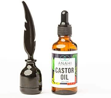 Organic Castor Oil for eyelashes - 100% Pure, Cold Pressed Castrol oil for hair growth, Stimulate Growth for Eyelashes, Eyebrows, Hair. Lash Growth Serum. Brow Treatment. + BONUS FREE Mascara Starter