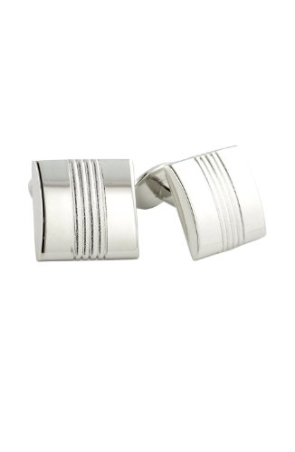 David Donahue Sterling Silver Cufflinks (Sterling Silver Two Tone Cufflinks)