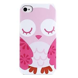 Buy Joyland Sleepy Eyes Owl Pattern ABS Back Case for iPhone 4/4S