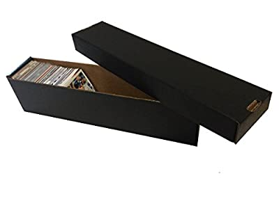(10) BLACK 800 Count 2 Piece Box - Premium Vertical Storage Box - Baseball, Football, Basketball, Hockey, Nascar, Sportscards, Gaming & Trading Cards - By Max Pro Collecting Supplies