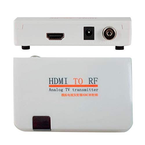 HDMI to Coax RF Converter Modulator for TV - HDMI in Coaxial Out Convertor Adapter Box with Remote Control RF Analog Signal Transmitter Adaptor with Zoom Function for Old TV Support 1080P Input