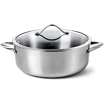 Calphalon Contemporary Stainless Steel 8-Quart Dutch Oven with Cover