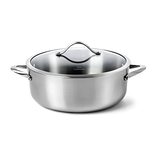 Dishwasher Safe Stainless Steel Dutch Oven (Calphalon Contemporary Stainless Steel 8-Quart Dutch Oven with)