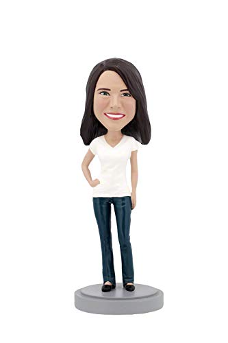 Casual Custom Bobble Head - Custom Bobbleheads - Casual Female Body - Personalized Gifts