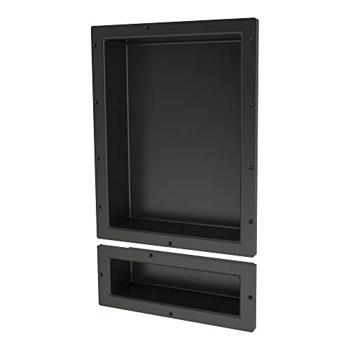 "Tile Redi USA RND1620S-6 Redi Niche Dual Shelf with 6"" H Inner Shelf, 16"" W x 26"" H"