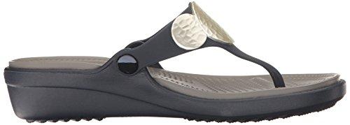 crocs - Sandalias de vestir para mujer azul marino