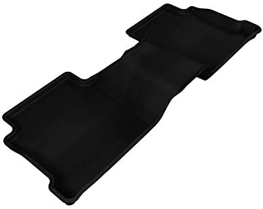 L1MZ04021509 3D MAXpider Second Row Custom Fit All-Weather Floor Mat for Select Mazda6 Models Kagu Rubber Black