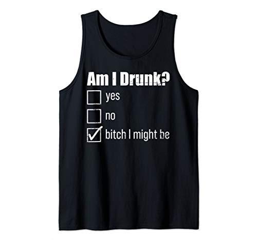 Drinking Drunk Shirt Bachelorette Tank Top Am I Drunk Beer Tank Top