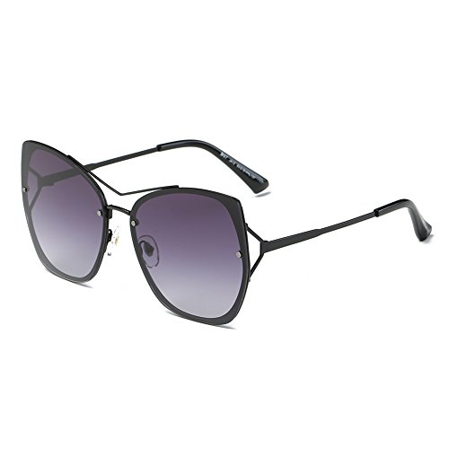 DONNA Trendy Oversized Mirrored Sunglasses Flat Flash Lens Square Cat Eye Shades D97(Gradient - Sunglasses Celebrity Latest