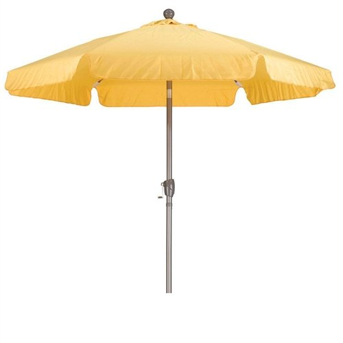 CHOOSEandBUY Yellow 7.5-Ft Outdoor Patio Umbrella with Push Button Tilt and Aluminum Pole Table and Chairs Kids Set Toddler Hot