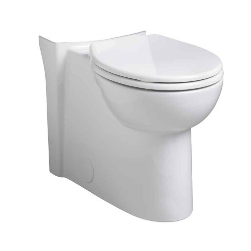(American Standard 3053.000.020 Cadet 3 Concealed Trap Right Height Round Front Bowl, White)