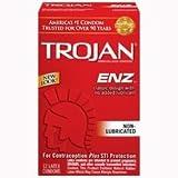 Trojan ENZ Condoms, STI Protection 12 Count, Non Lubricated, 1 Box