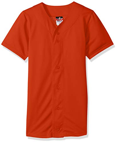 Alleson Athletic Men's Baseball Jersey, Orange, Medium by Alleson Athletic