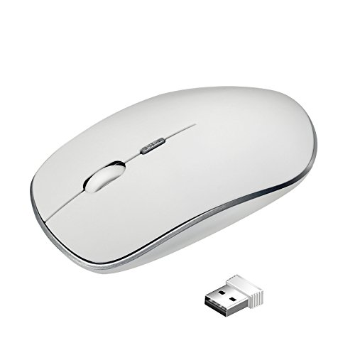 Wireless Mouse, YiCutte E10 2.4 GHz Wireless Quiet Click Mouse, 4 Adjustable DPI Optical Mice for PC, Mac and Laptop. (Dpi Pc Mac)