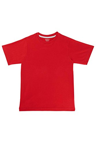 French Toast Boys' Little Short Sleeve Crewneck Tee, Red, 5 - Boys Red Crewneck Shirt