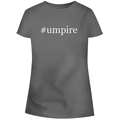 One Legging it Around #Umpire - Hashtag Women's Soft Junior Cut Adult Tee T-Shirt, Grey, Large