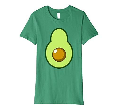 Womens Avocado Costume Halloween Funny Idea DIY T-Shirt Large Kelly -