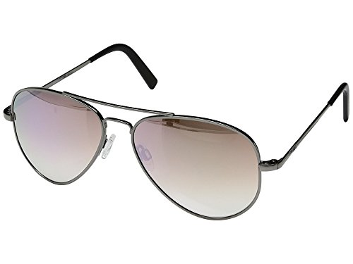 Randolph Unisex Concorde 57mm Gunmetal/Sunrise Metallic Nylon Anti Reflective Lens - With Crown Sunglasses Logo