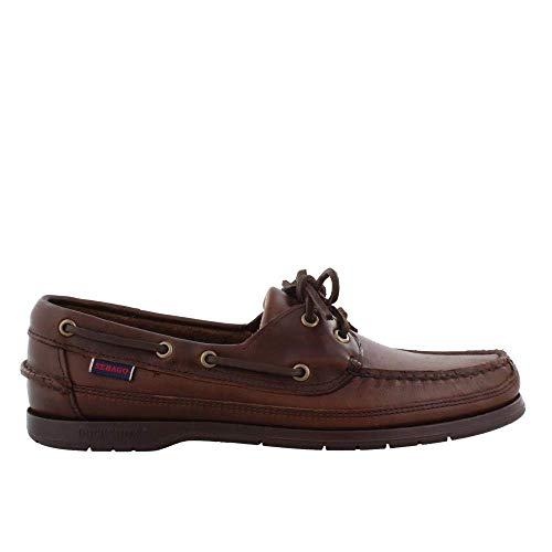 (Sebago Men's, Schooner Boat Shoes Dark Brown 7.5 M)