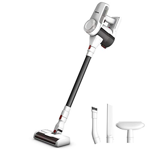 COSTWAY Cordless Vacuum Cleaner, Stick Vacuum with Strong Suction, Lightweight Bagless Handheld Vacuum Wall-Mountable for Home and Car, White