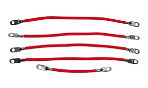 "EZGO 6 gauge battery cable set. Includes four 9"" and one 12"" cable. For E-Z-GO electric 1994-up. USA, EXCEPT ALASKA & HAWAII!"