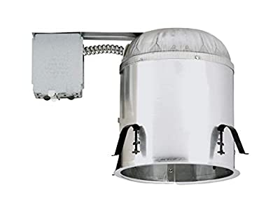 NICOR Lighting 6-Inch Non-IC Rated Line-Voltage Remodel Housing (17001R)