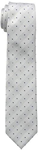 Dockers Big Boys Pin Dot Plaid Tie, Grey ()