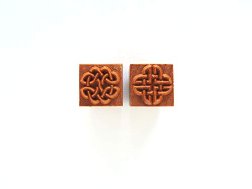 MKM Pottery Tools Stamps 4 Clay Medium Square Decorative Stamp for Clay (Ssm-43 Celtic Knots)
