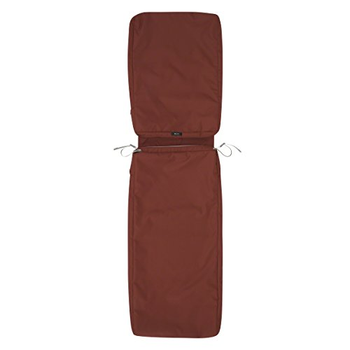 Classic Accessories Ravenna Patio Chaise Lounge Cushion Slip Cover, Spice, 72