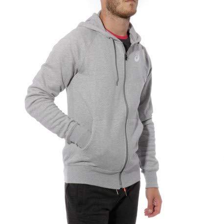 473b73d90bd07 Asics Fullzip Hoody Homme Sweat Running Gris  Amazon.fr  Vêtements ...