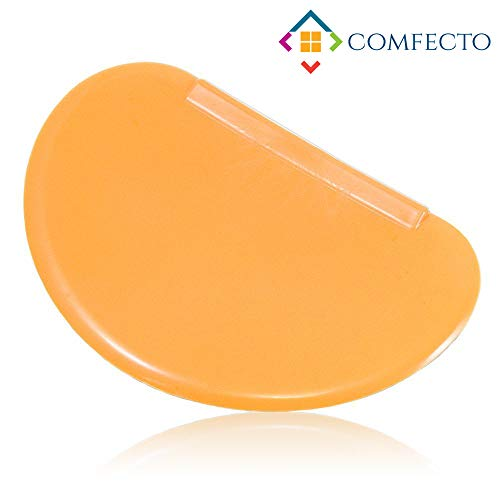 COMFECTO Dough Scraper, Curved Edge Flexible Bowl Scrapers Spatula, Multipurpose Kitchen Gadgets for Food Processor Bowl & Kitchen Bowl Scraping Baking Shaping Bread Dough Cake Fondant Icing ()