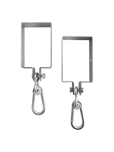 - Safari Swings 2 Heavy Duty Iron Swing Hangers for Wooden Sets | Includes 2 Snap Hooks. for Connecting to a 4