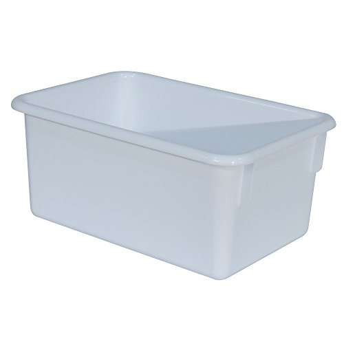 Wood Designs Kids White Rectangular Storage Tray, used for sale  Delivered anywhere in USA