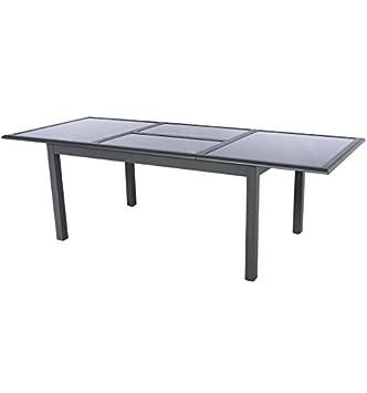 Amazon.de: Tisch ausziehbar Glas 10 Personen Azua graphit ...
