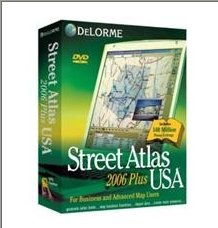 Delorme Mapping Street Atlas USA 2006 Plus DVD