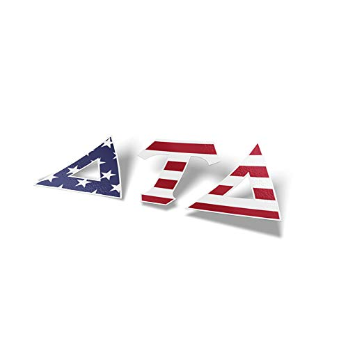 Delta Tau Delta Fraternity USA Letter Sticker Decal Greek 2 Inches Tall for Window Laptop Computer Car Delts