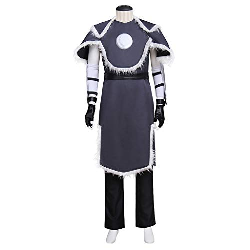 CosplayDiy Men's Suit for Avatar The Last Airbender Sokka Cosplay Costume -