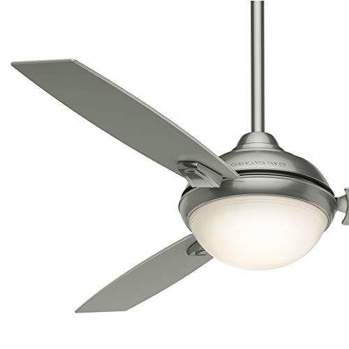 Casablanca Fan 54 inch Contemporary Stain Nickel Indoor Ceiling Fan with LED Light and Remore Control (Renewed)
