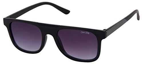 Silver Kartz Disco PrintedUV Protected Wayfarer Unisex Sunglasses - (wy232|55|Black)