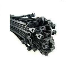 Polybagstores TB8 - Set de 200 bridas de plástico (300 x 4,8 mm), color negro